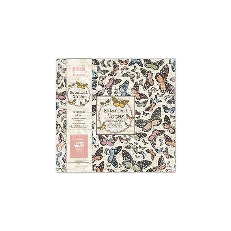 Scrapbooking album 30,5*30,5cm - Botanical Notes / liblikad