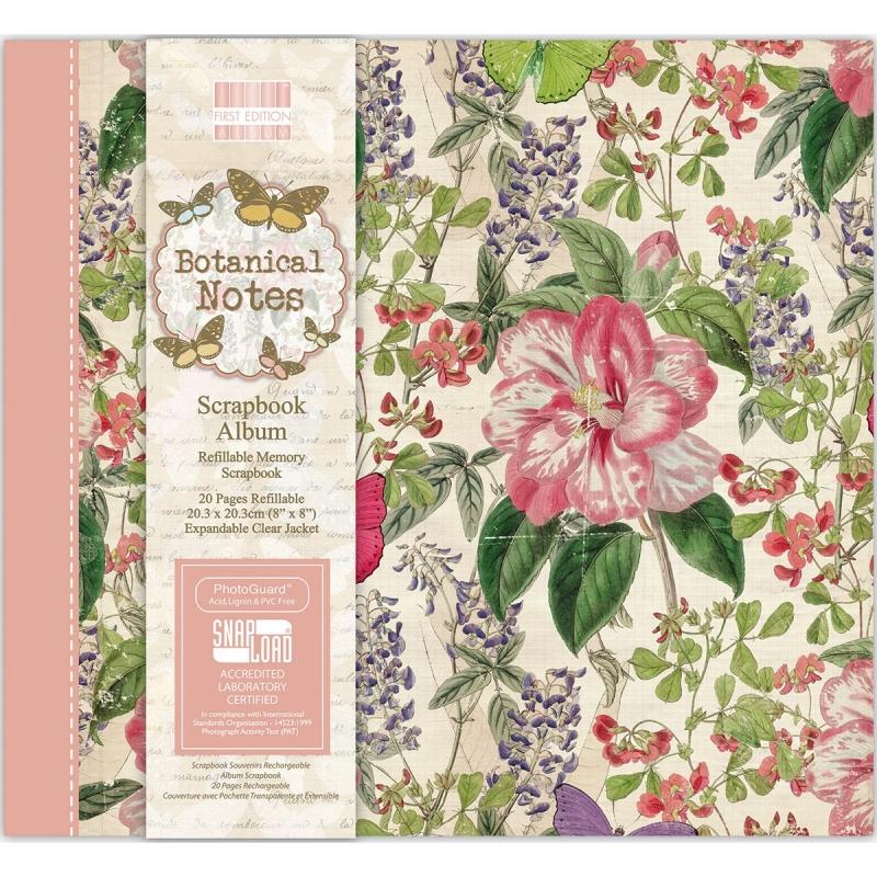 Scrapbooking album 20,3*20,3cm - Botanical Notes
