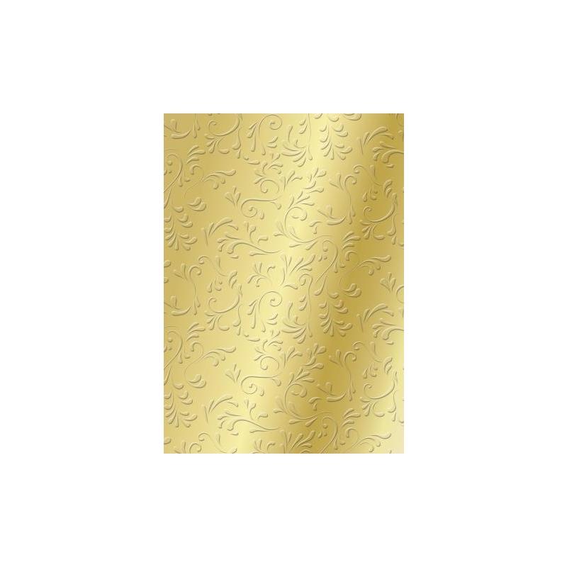 Tekstuurne kartong A4 Roma 220g/m2 kuldne
