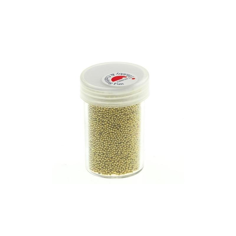 Minipärlid 0,8-1,0 mm 22 g kuldne