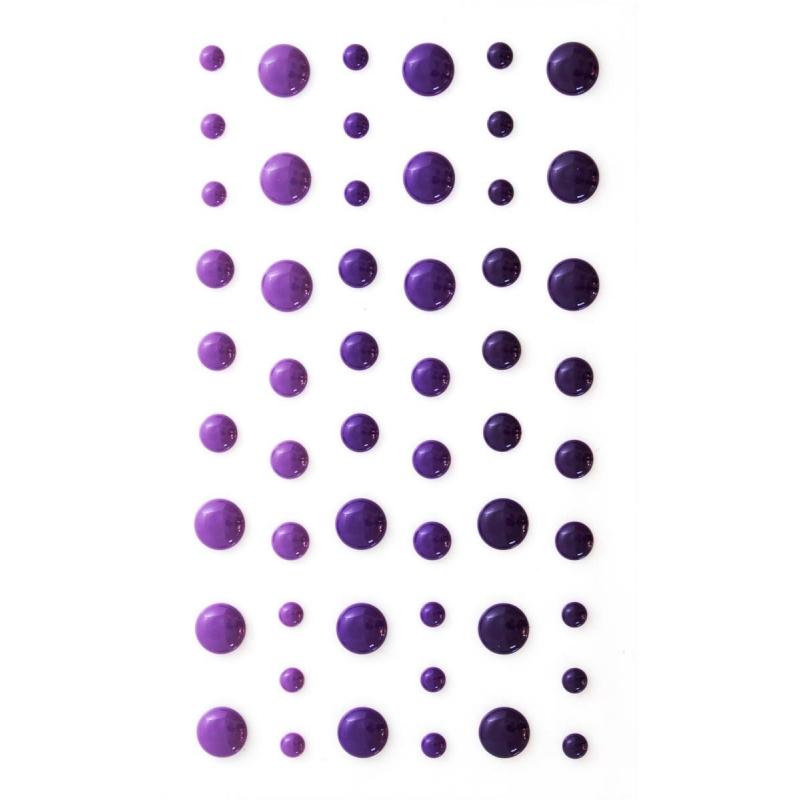 Emaileeritud iseliimuv poolpärl violet