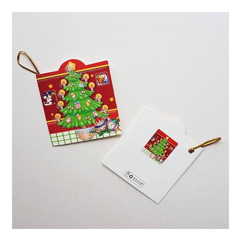 """Väike jõulukaart sädelusega """"Kuusepuu"""""""