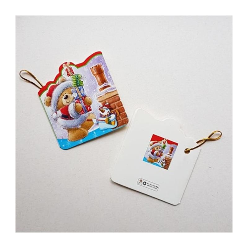 """Väike jõulukaart sädelusega """"Mõmmi ja kingitused"""""""