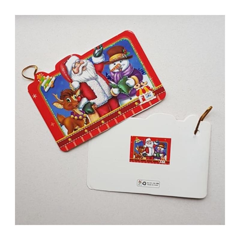"""Väike jõulukaart sädelusega """"Jõulumees sõpradega"""""""