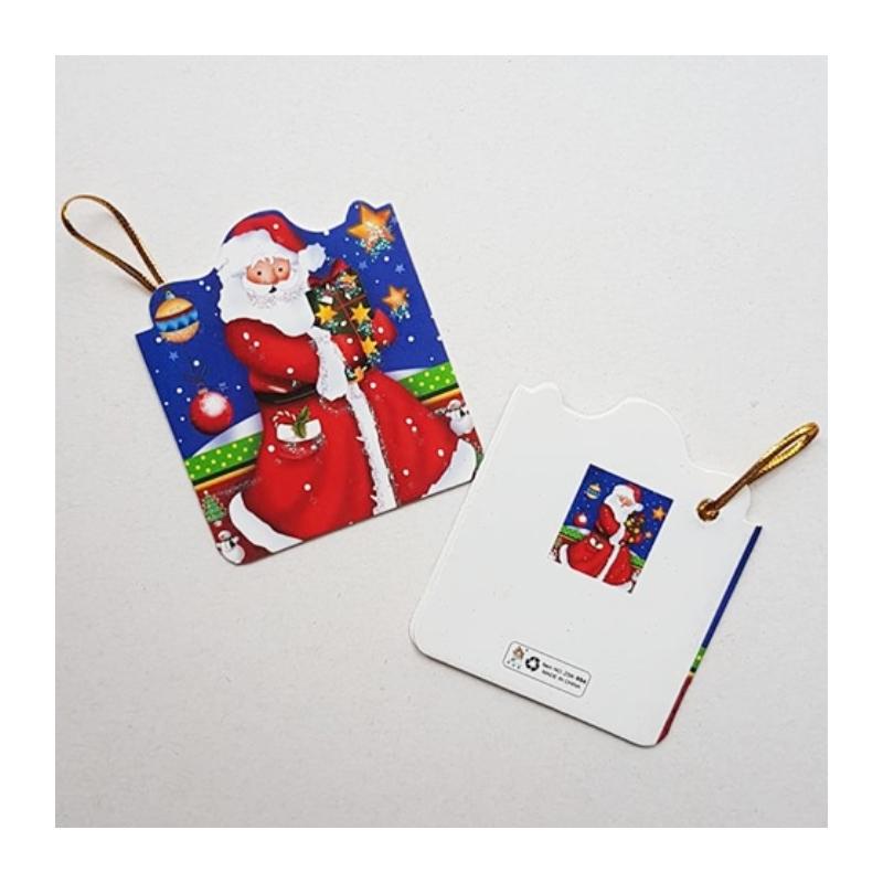 """Väike jõulukaart sädelusega """"Jõulumees"""""""