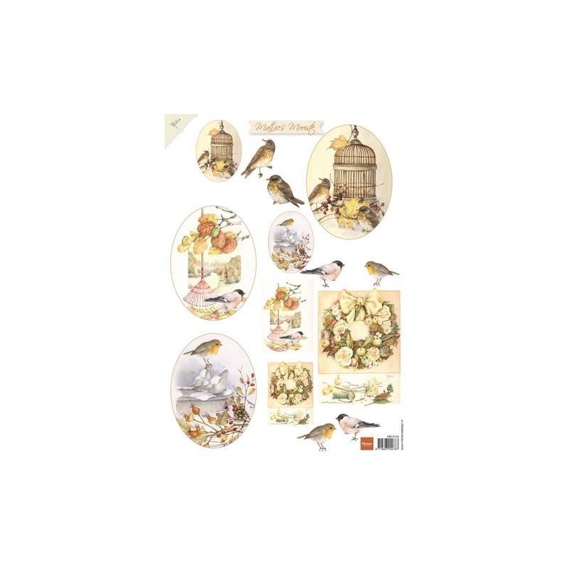 """A4 paber """"Linnud puuriga"""" MB0154"""
