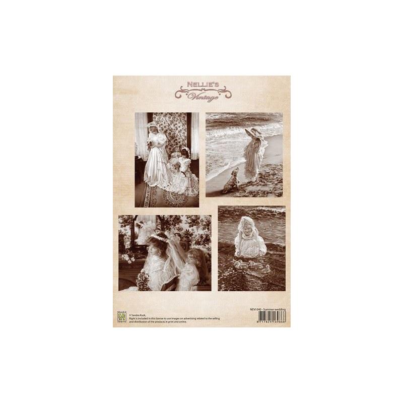 """A4 paber """"Vintage pulmad"""" NEVI040"""
