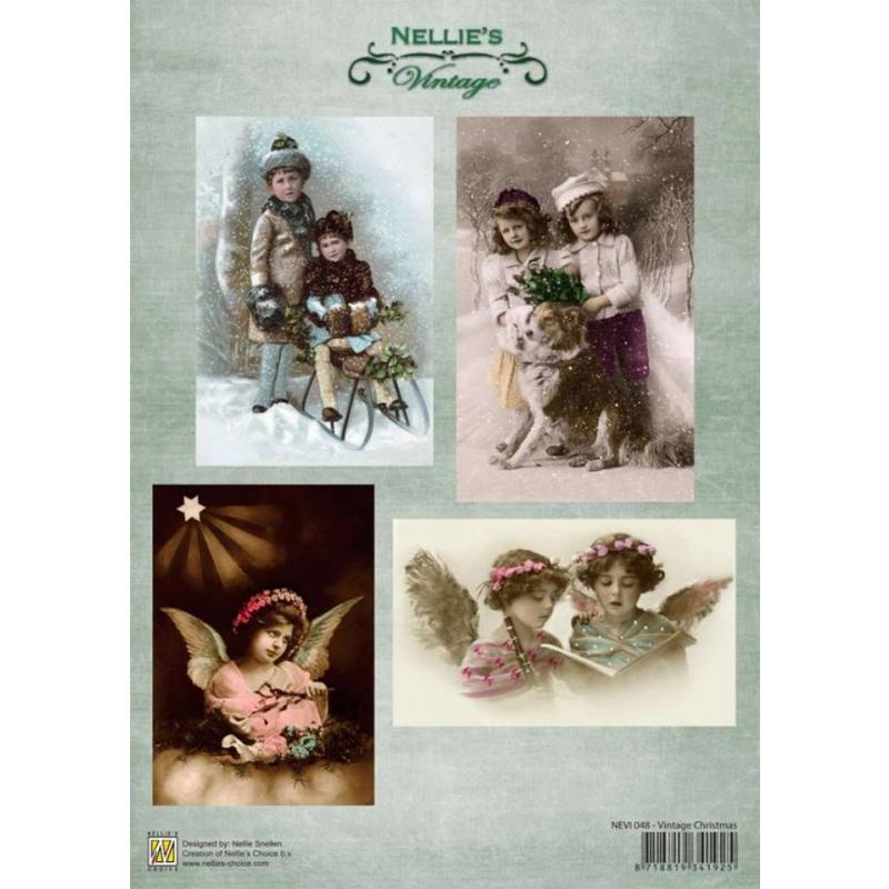 """A4 paber """"Vintage jõulud"""". NEVI048"""