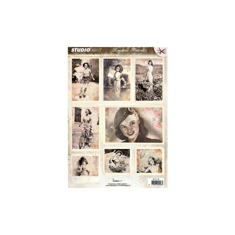 Romantic Portraits A4 rebitavad pildid RPSL48