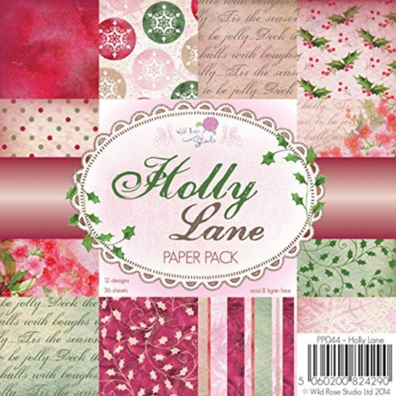 "Paberiplokk 15*15 cm 36l ""Holly Lane"""