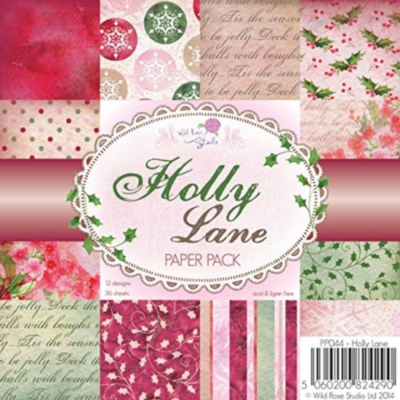 "Paberiplokk 15*15 cm 36l ""Holly Lane"""
