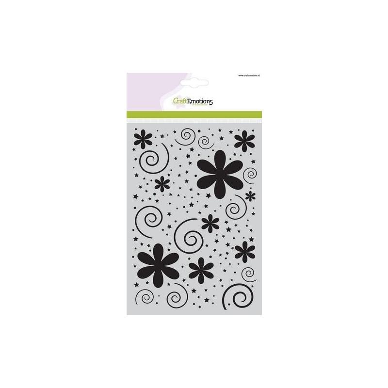 """Šabloon A5 """"Lilled, täpid, tähekesed"""" 185070/1106"""