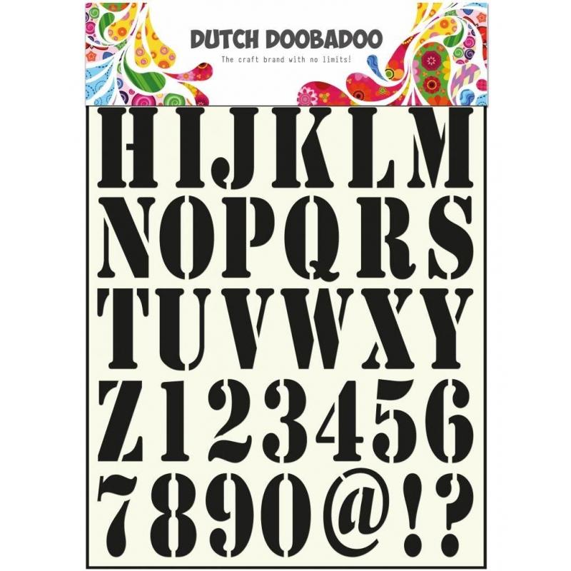 """Šabloon A4 """"Trükitähed ja numbrid"""" 470.455.001"""