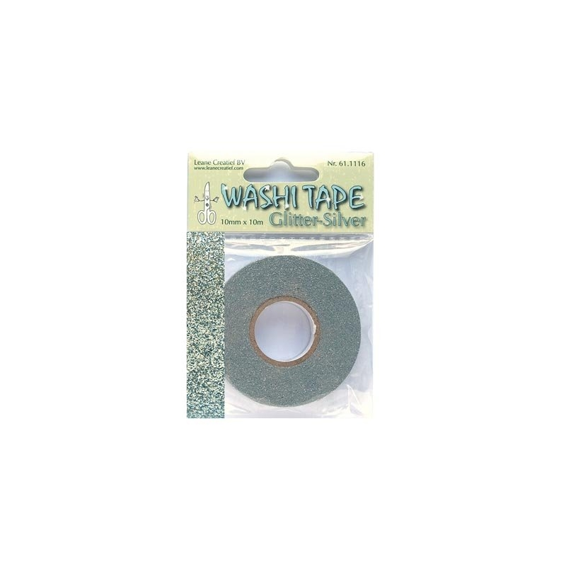 Washi Tape glitter hõbedane 10mm*10m
