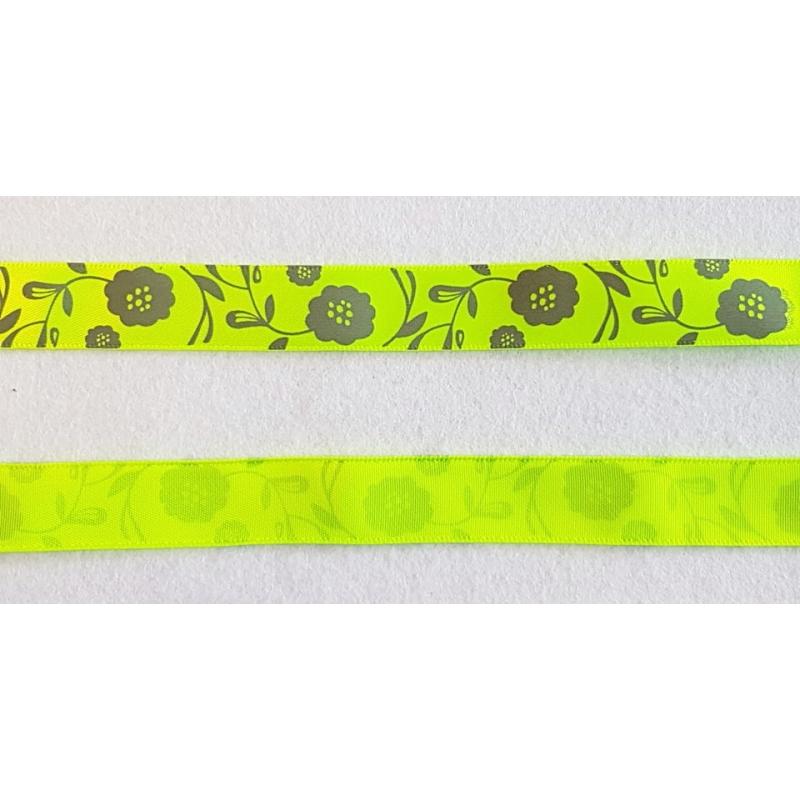 "Dekoratiivpael ""Hõbedane lill neoonkollasel taustal"" 15mm"