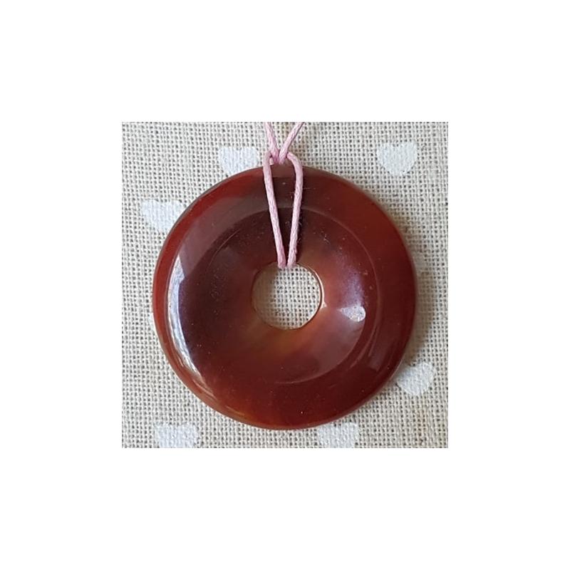 Karneool donut-ripats 40mm