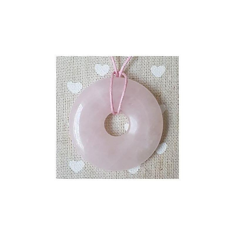 Roosa kvarts donut-ripats 40mm