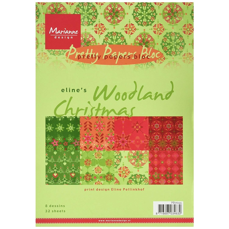 "Paberiplokk ""Woodland Christmas"" 32l A5"