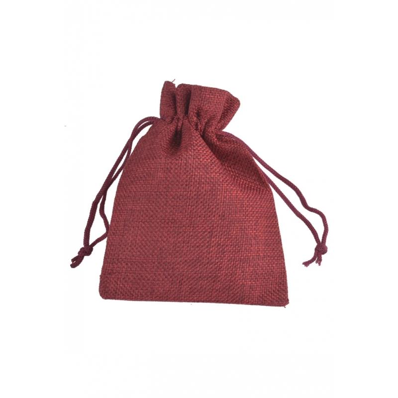 """Kinkekott """"Tekstiil"""" 13,5*9 cm tumepunane"""