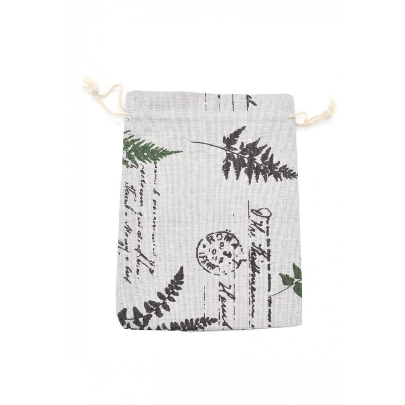 """Kinkekott """"Tekstiil lehed"""" 20*15 cm"""