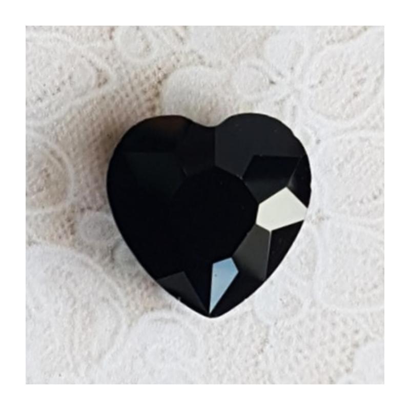 Klaashelmes süda 2 cm must 1tk