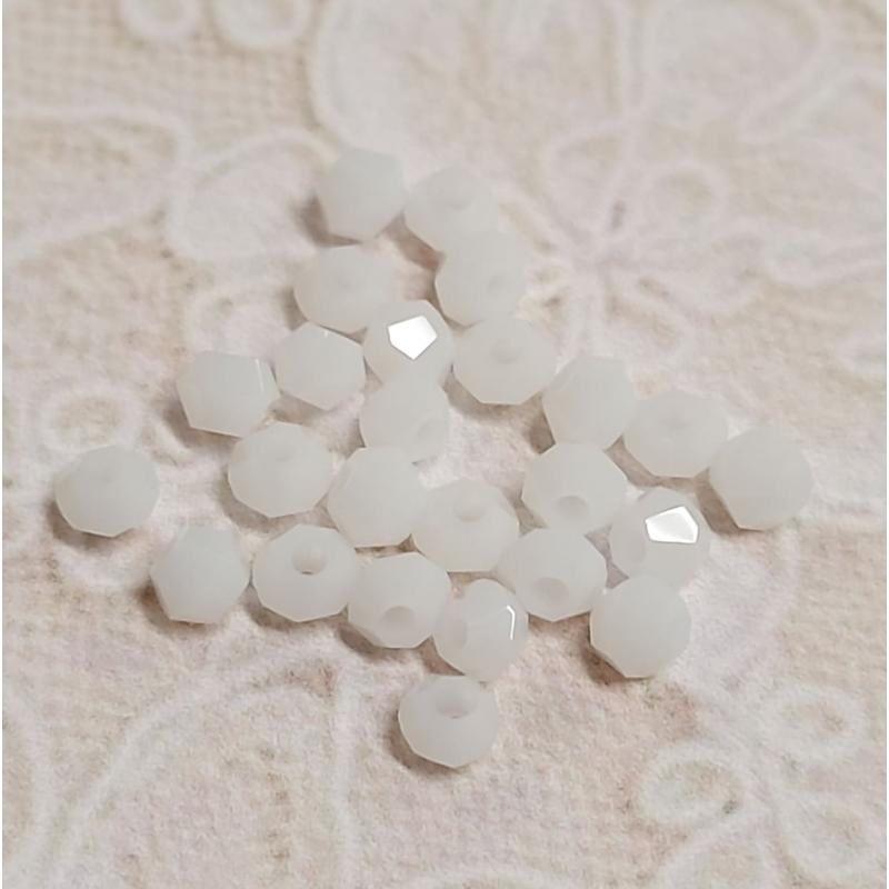 *Klaaskristall 3*2,5mm valge tahuline 25tk/pk