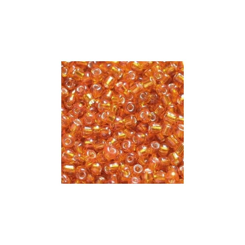 Klaashelmes 2mm hõbedase sisuga oranž 20g