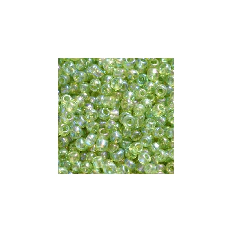 Klaashelmes 2mm AB-läikega heleroheline 20g