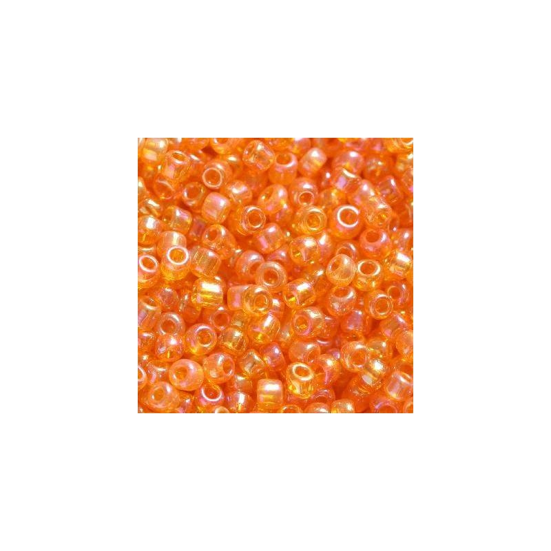 Klaashelmes 2mm AB-läikega oranž  20g
