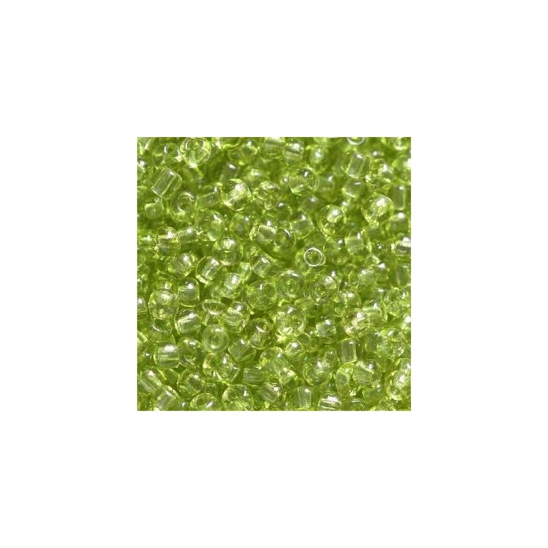 Klaashelmes 2mm läbipaistev heleroheline 20g
