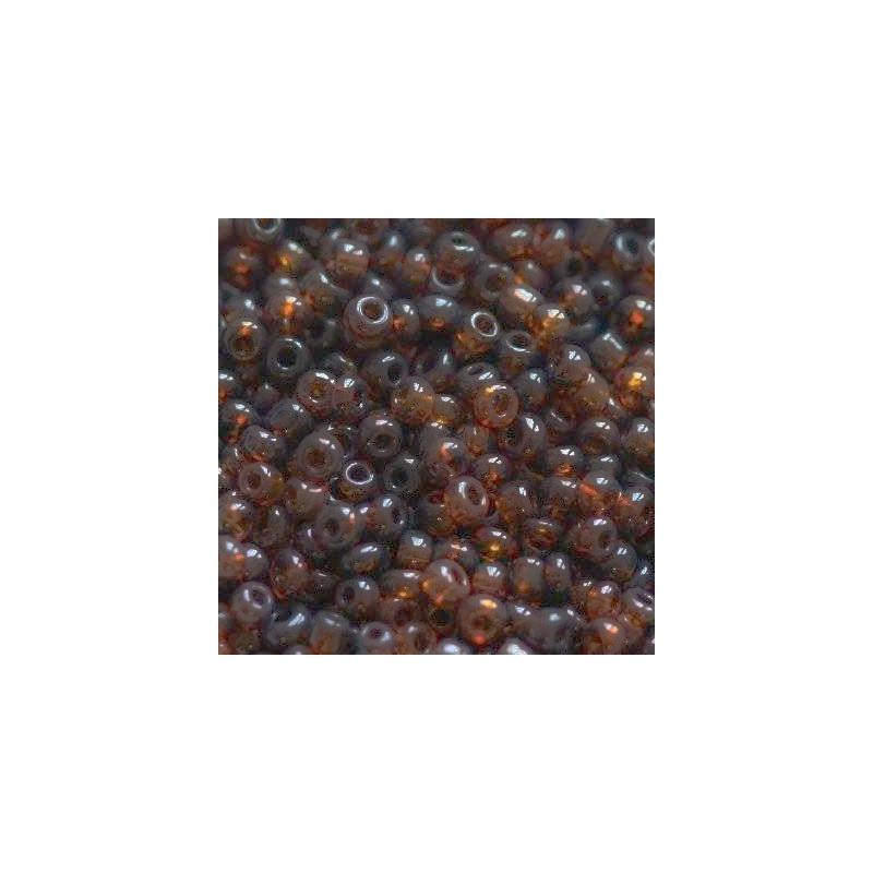 Klaashelmes 2mm läbipaistev matt pruun 20g