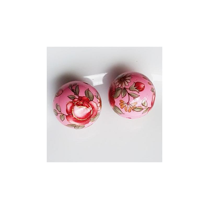 Tensha 16mm roosa helmes punase roosiga