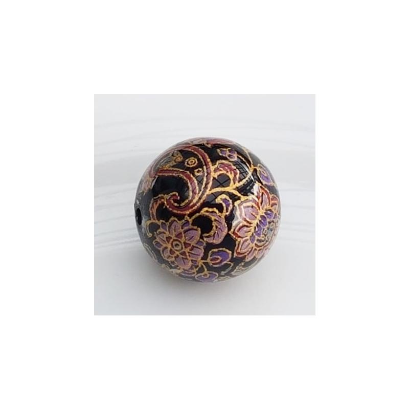 Tensha 16mm must helmes lille ja neerumustriga