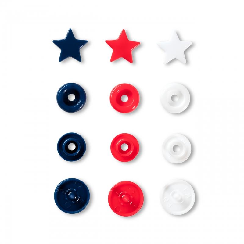Plastmassist trukid Love täht puna-valge-t.sinine 30tk