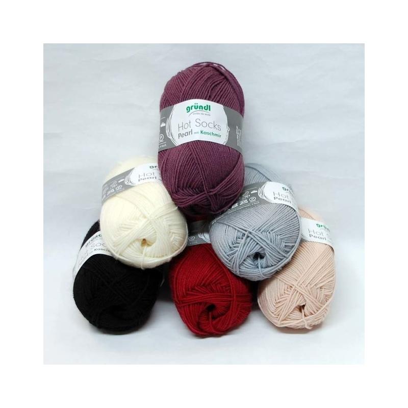 Gründl 4* Hot  Socks Pearl Kashmir 50g 200m