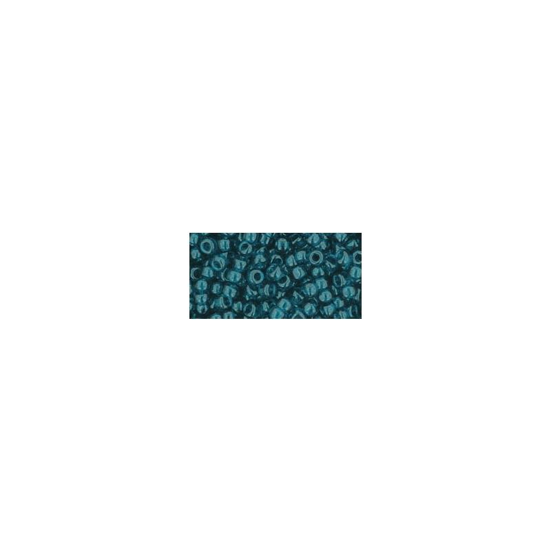TOHO 8/0 Transparent Capri Blue 10g