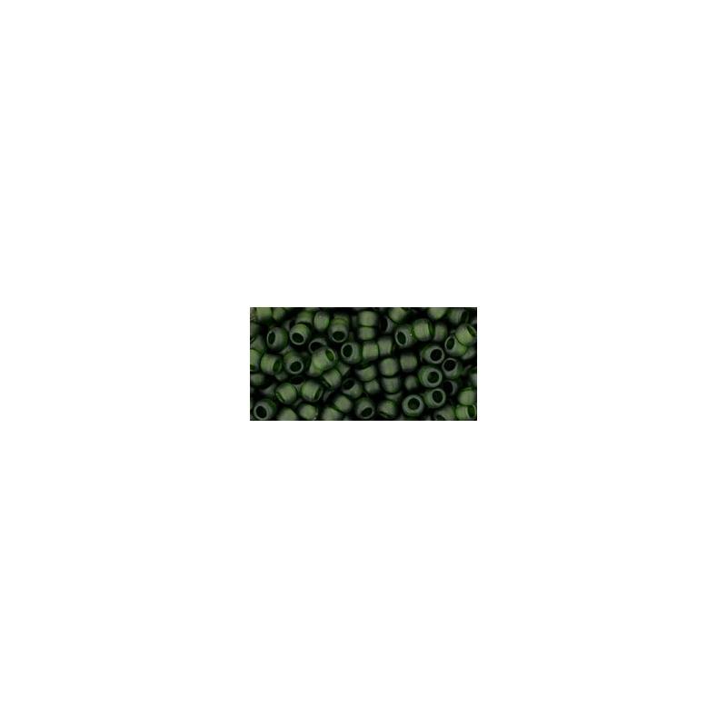 TOHO 8/0 Transparent-Frosted Olivine 10g