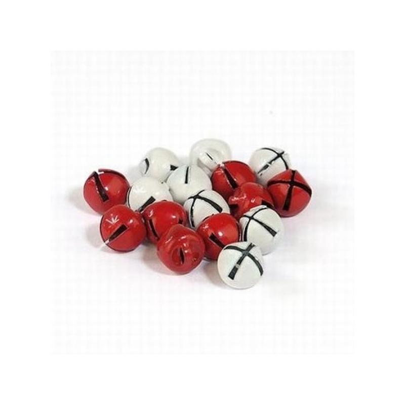 """Kuljused """"punased+valged"""" 8mm * 16 tk"""