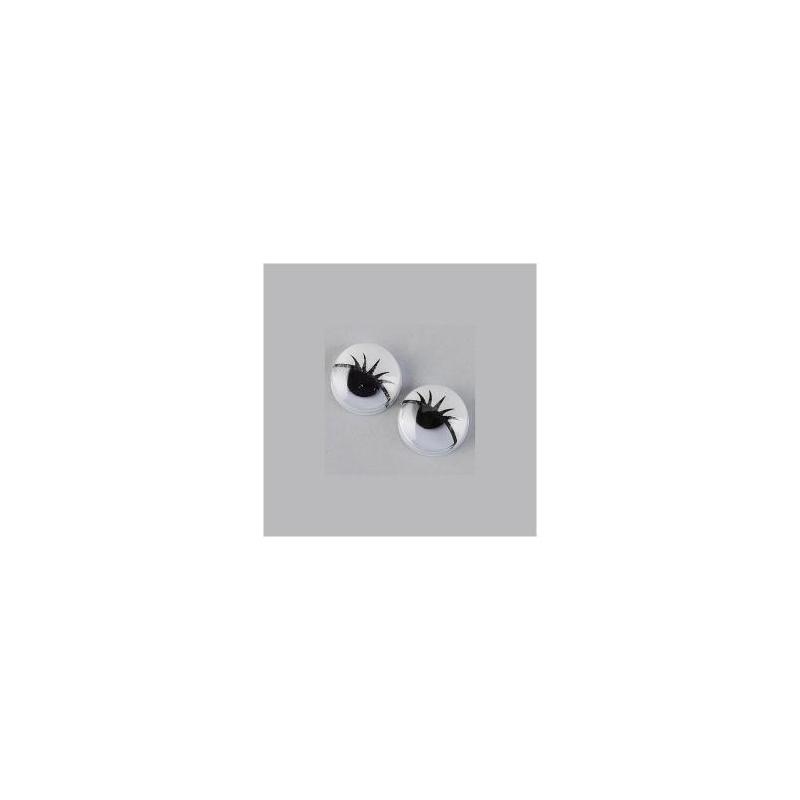 Liikuvad silmad joonistatud ripsmetega 12mm 10tk
