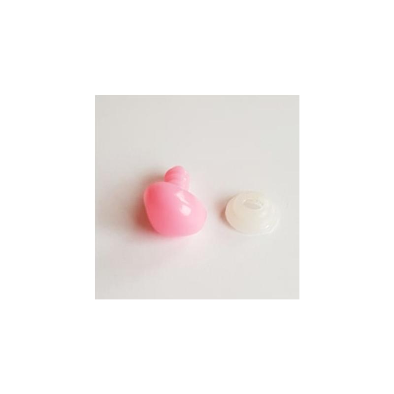Väike roosa turvanina mänguasjadele 10mm 1tk