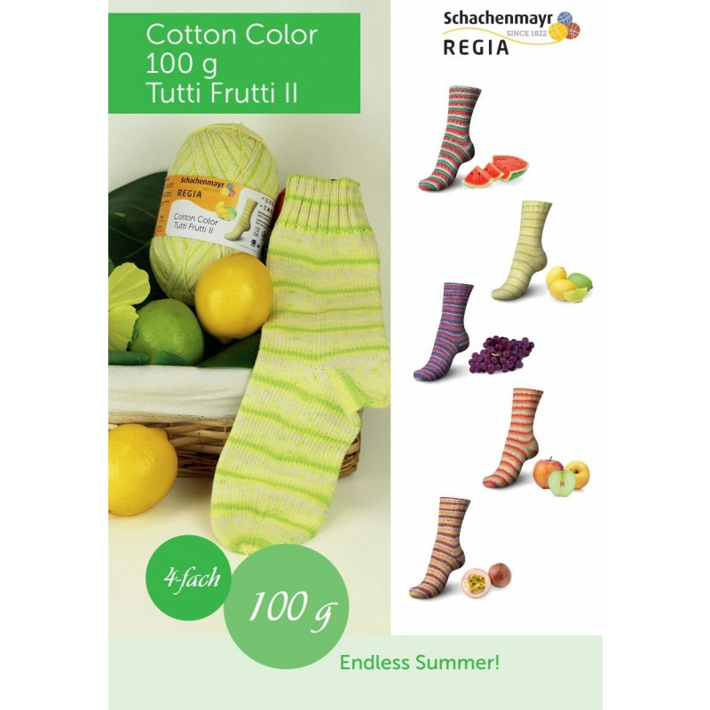 Regia Cotton Color Tutti Frutti 100g / 420m LÕPUMÜÜK!