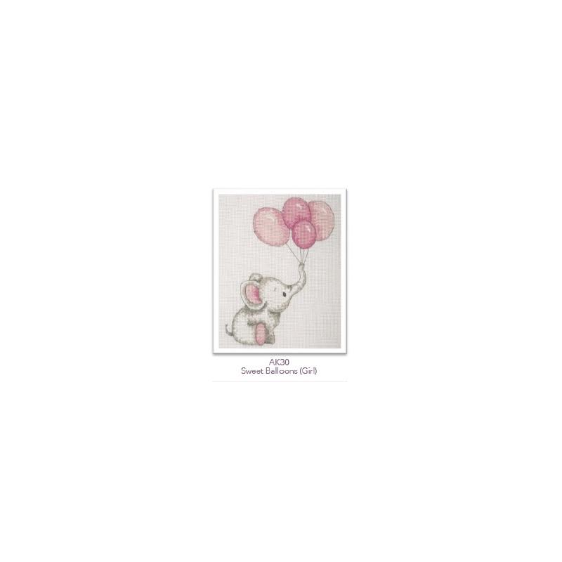"""Tikkimiskomplekt """"Vant õhupallidega"""" roosa"""