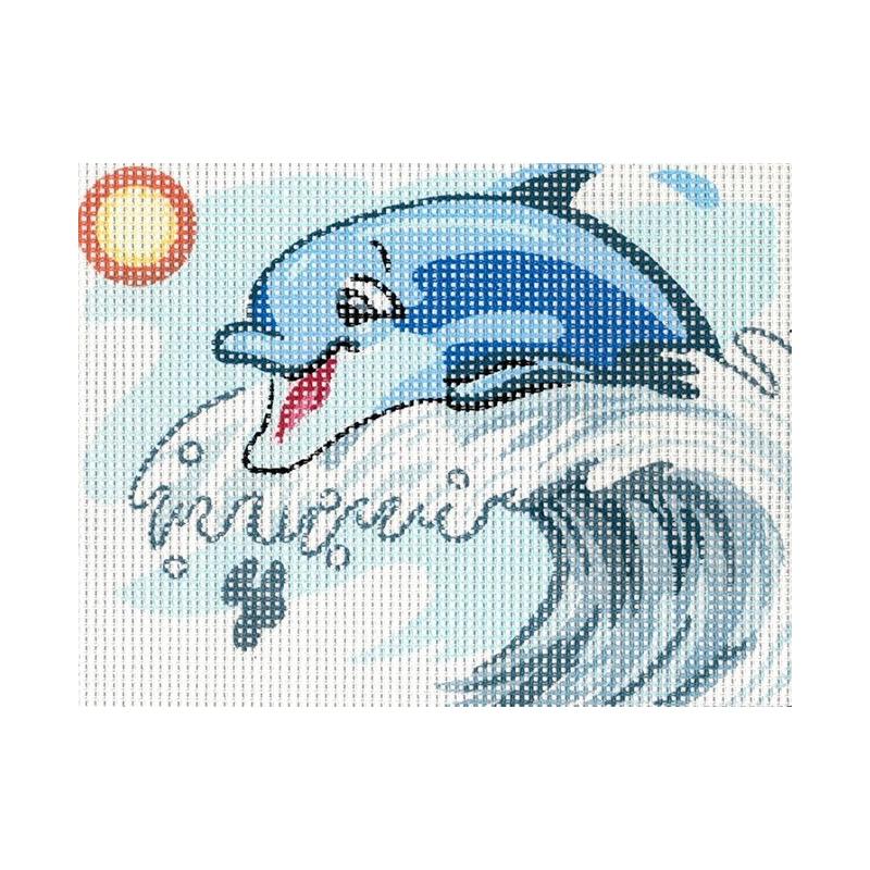 "Ristpistes tikkimispilt ""Delfiin""  20*25cm 3227"