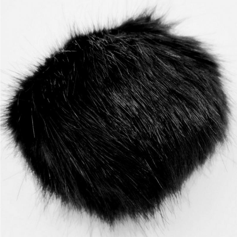 Mütsitutt must 10 cm