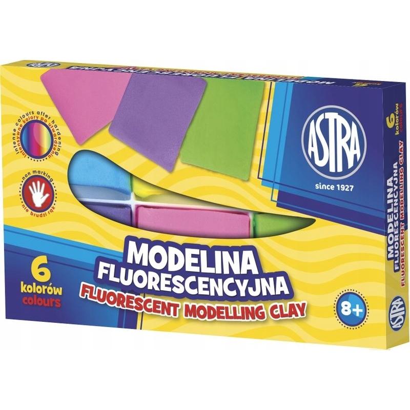 Polümeersavi komplekt UV helendav 6 värvi *20g