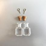 Mini purk klaasist 13,8*13,8*24 mm 2tk