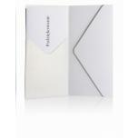 Taskuga ümbrik DL 110*220mm metallik valge