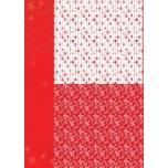 Disainpaber A4 Jõuornamendid punane NEVA034