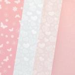 Dekoratiivkartong Roosa Pastell MIX  A4 20 lehte