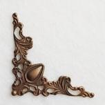 Metallnurk filigree pronks 4,2*3,5 cm